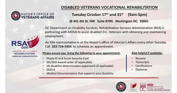 Disabled Veteran Vocational Rehab
