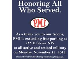 Free Parking on Veterans Day