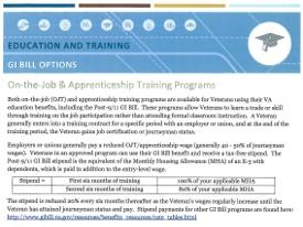 GI Bill On-the-Job Training