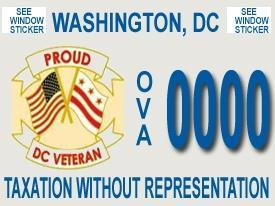 Veteran's License Plate